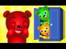 Mega Gummy Bear crying playing hide and seek finger family song for children Gummybear for kids