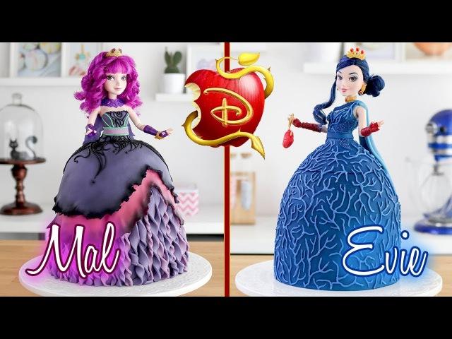 DESCENDANTS 2 🍎 Evie Mal Doll Cakes 💙 Tan Dulce
