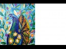Live 2 Peacock and Flowers and Flowers abstract acrylic tutorial art lesson
