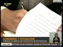Firma de Acuerdo de Garantías Electorales entre Gobierno y oposición