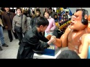 Arm wrestling arcade machine at the Kaeson Youth Park, Pyongyang