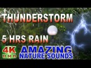 Heavy thunderstorm and rain sounds