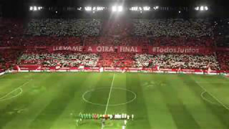 Sevilla FC | Himno del Centenario en la vuelta de semifinales de Copa del Rey
