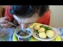 ОБЖОР Сельдь филе кусочки А'Море Матье с дымком отварной картофель с зеленым луком