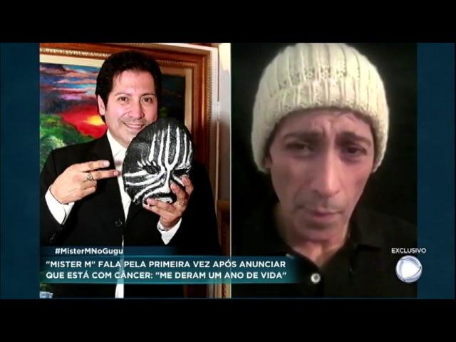Pela primeira vez na TV, Mister M fala sobre câncer e explica por que desistiu da quimioterapia