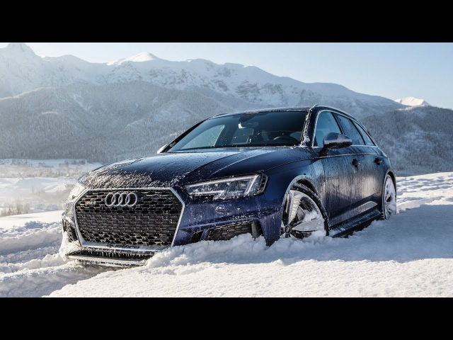 Can the 2018 AUDI RS4 handle the ROUGH SNOW? - (450hp/600Nm/V6BiTurbo) - Stuck or not?
