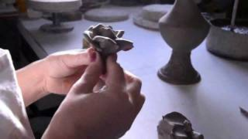 Hand made Ceramic Rose. Italian Ceramics of Bassano