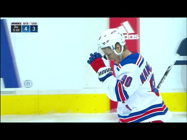 Vlad Namestnikov's breakaway goal for Rangers (2018)