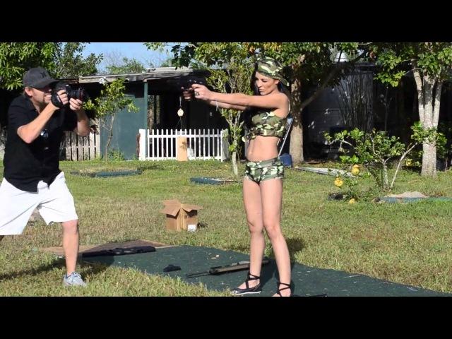 Hot Chick Dual Wielding Shooting FN Five seveN's MKII 5.7x28mm