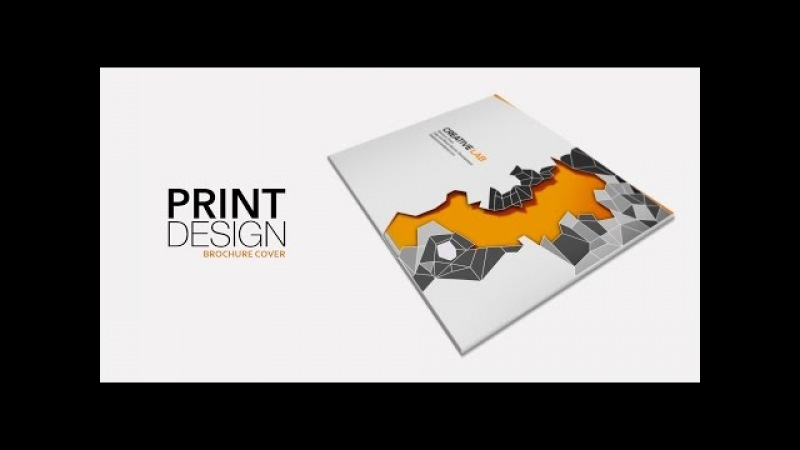 Print Design - Brochure Cover (part-2) - Adobe Photoshop