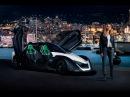 Амбассадор спорткара Nissan Blade Glider 2017 актриса Марго Робби на гонках в Монте Карло, ...