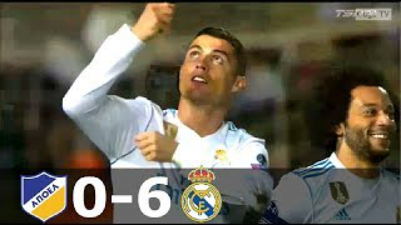 APOEL vs Real Madrid 0-6 - UCL 2017/2018 - Full Highlights (English Commentary) HD (60 fps)