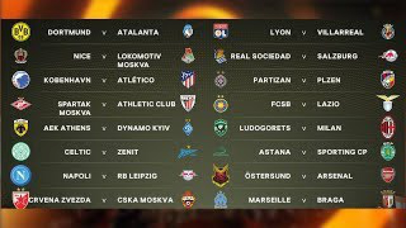 Round of 32 Draw Results. UEFA Europa League 2017-18 UELdraw