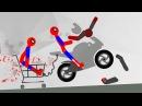 БЕШЕНЫЙ СТИКМЕН ВОЗВРАЩАЕТСЯ КРУТАЯ игра про машинки в смешном видео для детей ...