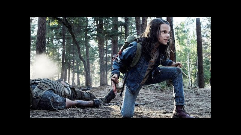 Logan e Laura (X-23) Lutando na Floresta DUBLADO HD | Logan (2017)