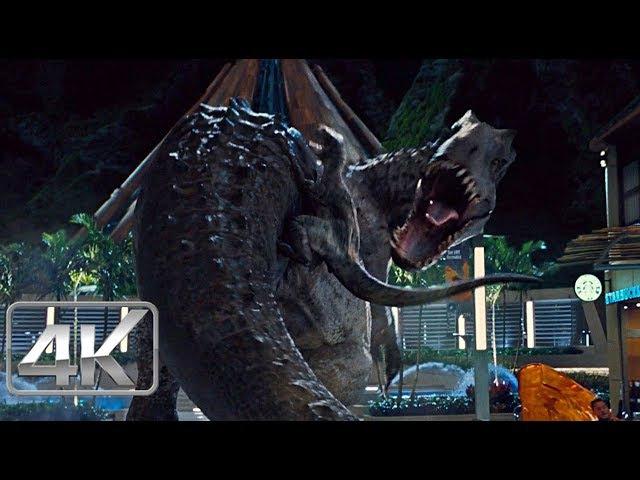 Indominus Rex Vs Velociraptors - LATINO (4K-HD) | Jurassic World (2015) |