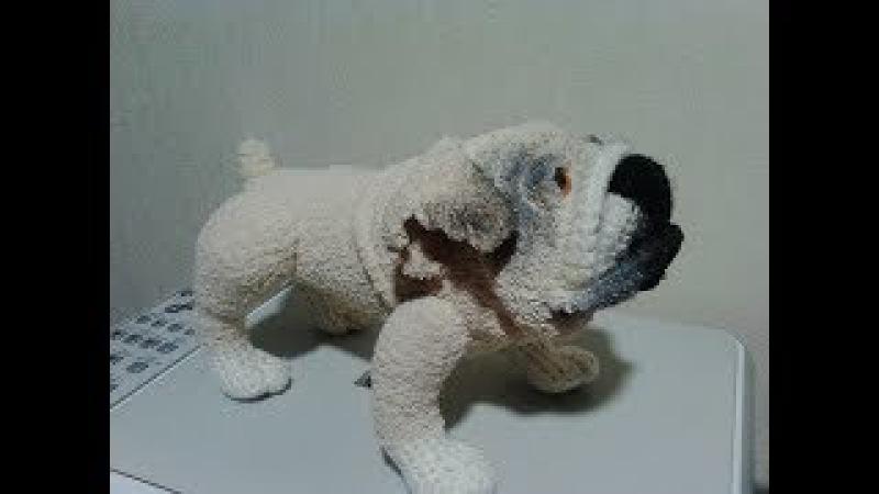 Английский бульдог,ч.3. English Bulldog, р.3. Amigurumi. Crochet. Игрушки крючком.