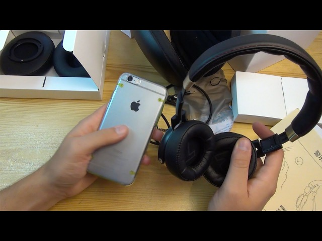 XiaoMi Foldable Hi Fi Low Impedance Headphone Распаковка Тест Gearbest