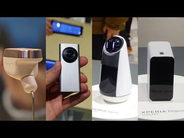 Xperia Ear и интернет вещей от Sony Eye Agent и Projector видео с YouTube канала Rozetked