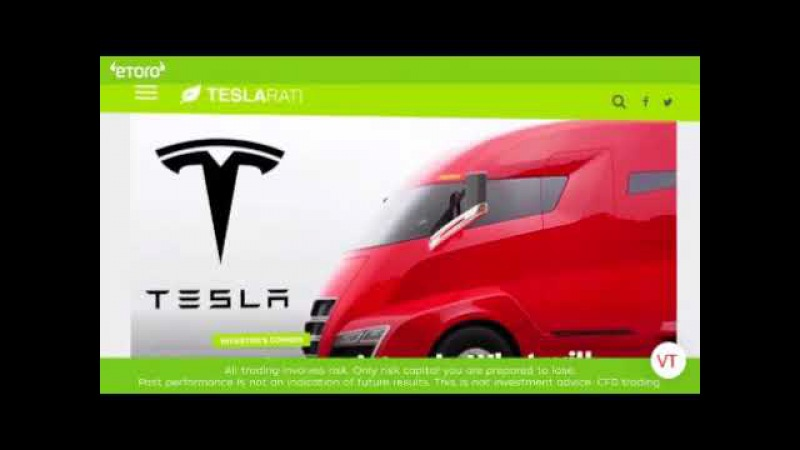 EToro 3% jump on Tesla staocks from a tease what can happen with the unveil this October