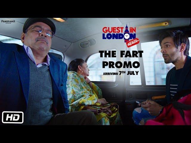Guest iin London The Fart Promo Paresh Rawal Kartik Aaryan Kriti Kharbanda Tanvi Azmi