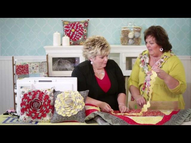 Scallop Ruffled Pillow with Janet Platt | ADORNit