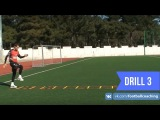 Football coaching video - soccer drill - ladder coordination (Brazil) 3