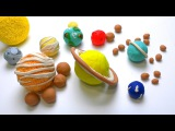 DIY How to make Play Doh Solar System Planets &amp its Moons How many Moons in universe Kids Play dough