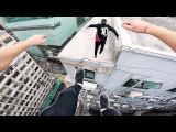 Rooftop POV Escape from Hong Kong security! ??