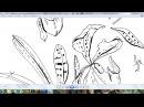 Часть 1 подробно векторное изображение из рисунка линером на бумаге