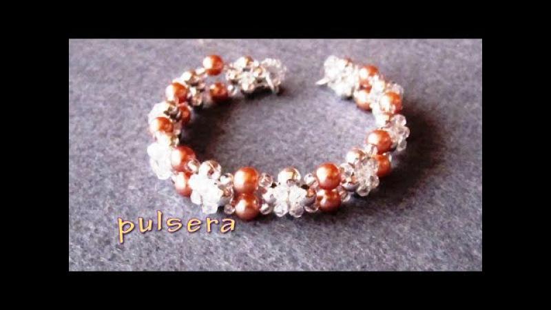 - DIY - Pulsera de chafas y perlas - DIY - Bracelet of beads and pearls