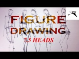 Figure Drawing Gesture and Proportion with 7.5 Head Method.