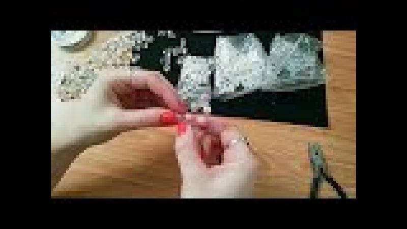 Копия видео Плетение свадебной шпильки из проволоки и бусин. Ручная работа | Jo Handmade