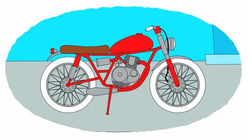 Мультик - Раскраска. Учим Цвета - Сборник - Все мотоциклы - Мультики про машинки