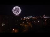 Ижевск - Праздничный фейерверк с элементами салюта в День Победы 9 мая 2017.