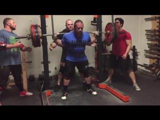 Дэн Грин, приседания 310 кг на 5 раз