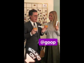Stephen/Gwyneth - Late Show Instagram