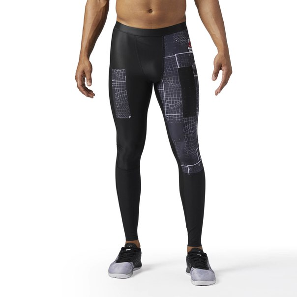 Компрессионные тайтсы Reebok CrossFit Compression Grid Graphic