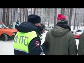 Задержание участника гонок на озере Балтым