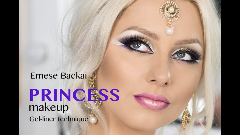 FAIRY-TAIL PRINCESS BRIDAL MAKEUP in GOLD VIOLET TONES with gel liner technique by Emese Backai