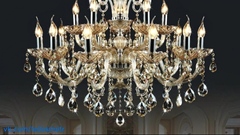 Хрустальная люстра на 6-18 рожков под лампы Е14