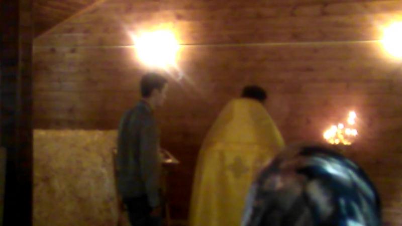 Молебен в часовне Ефросиньи Полоцкой, служит отец Роман Граничников, поют замечательные ангелочки Катюшенька и Ангелинушка