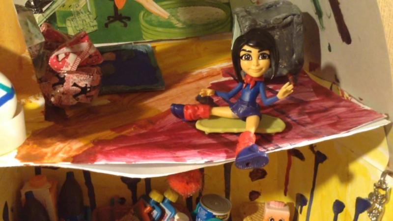 Рада. Обзор самодельного кукольного дома.