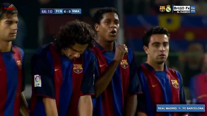 Real Madrid 7 - 0 Barcelona - El Clasico - Habia una vez un Ronaldo - Parody Los Galacticos 2003