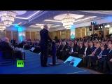 Путин участвует в съезде Российского союза промышленников и предпринимателей