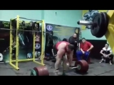 Иван Макаров (Грузия), становая тяга без экипировки - 380 кг на 3 раза ? подготовка к сезону ?