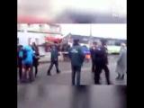Пассажирский автобус вылетел на остановку на Сходненской улице в Москве