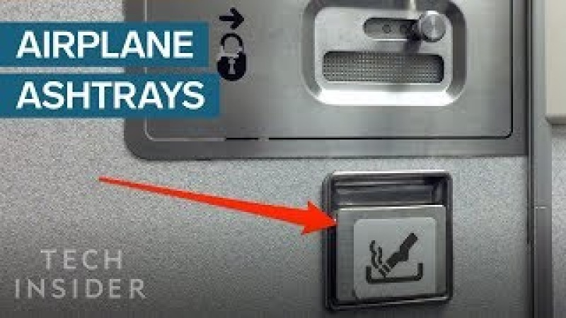 Why Airplanes Still Have Ashtrays In the Bathroom