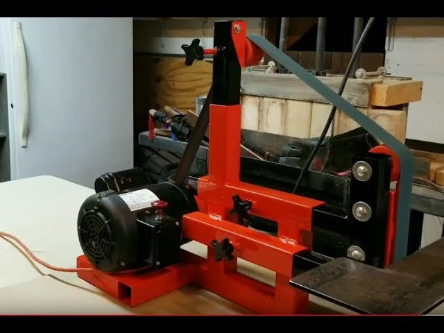 2 x 72 Belt Sander Made From A Weight Bench Pt. 2 (Finished)