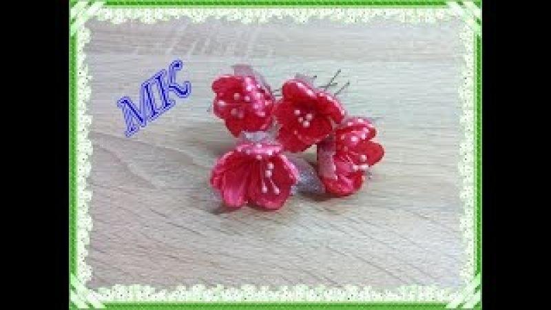 ШПИЛЬКИ ДЛЯ ВОЛОС с цветами, МК / DIY Flowers Hairpins